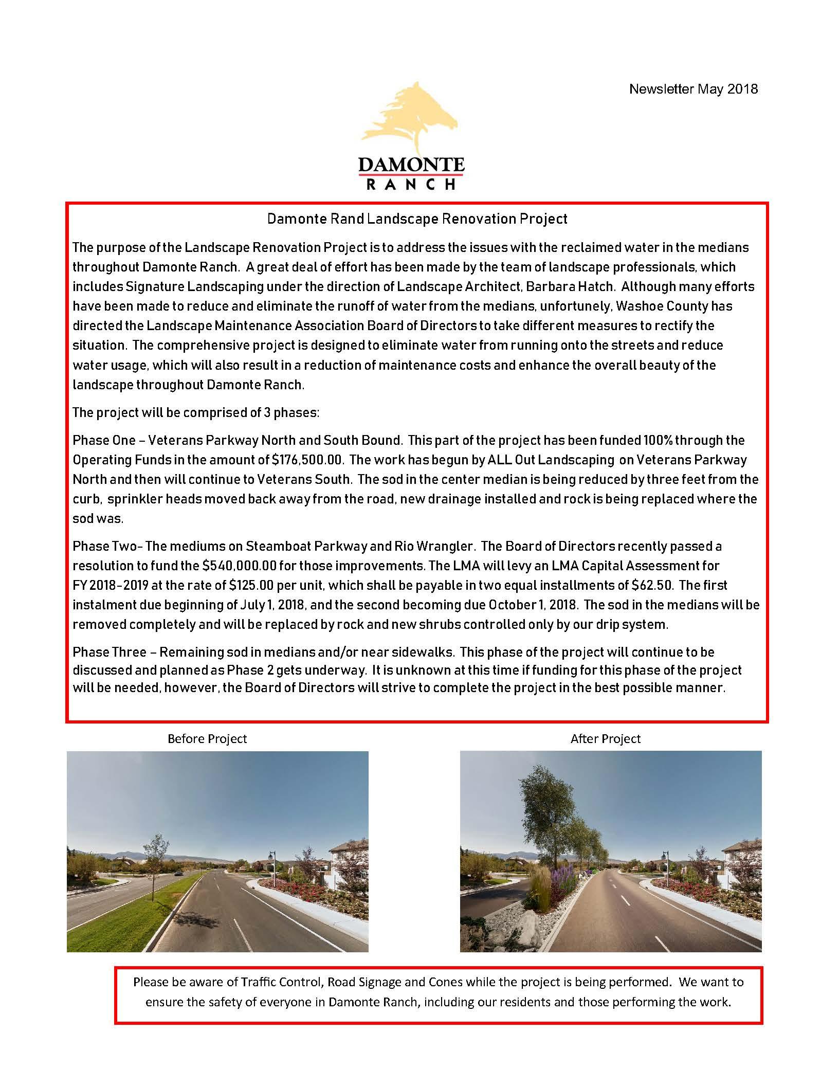 Damonte Ranch Newsletter - May 2018